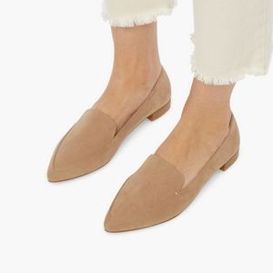 JustFab Tan Pointed Flat Loafer